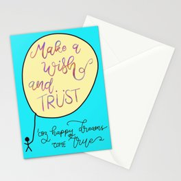 Make a Wish and Trust Stationery Cards