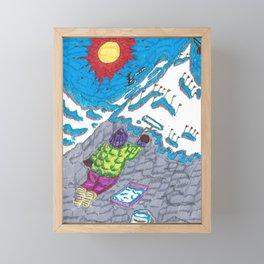 Painting a Mountain Framed Mini Art Print