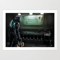 dead space Art Prints featuring Dead Space by rjs_allison