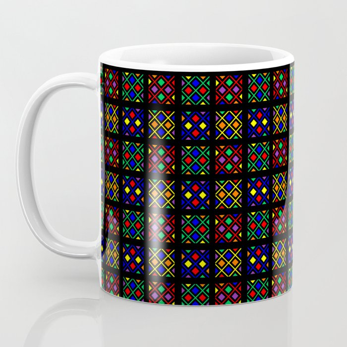 Kente Cloth Ankara Stained Glass Pattern Coffee Mug