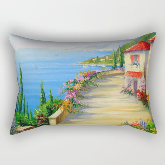 The town by the sea Rectangular Pillow