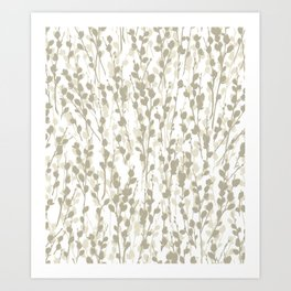 Pussywillow Pattern — Warm Art Print
