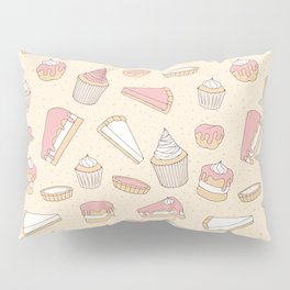 Pink Pastry Pattern Pillow Sham