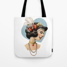 Tribal Princess Snow White Tote Bag