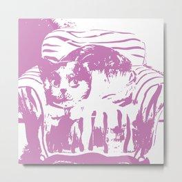 Toby the cat c Metal Print