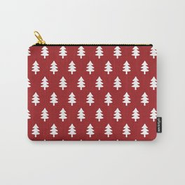 Hand drawn christmas red trees Carry-All Pouch