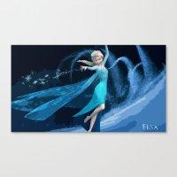 frozen elsa Canvas Prints featuring Elsa | Frozen by EcaJT