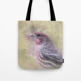 Rosey House Finch Tote Bag