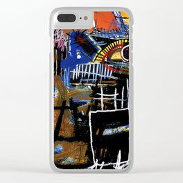 Jean-Michel Basquiat - Head 1981 Clear iPhone Case