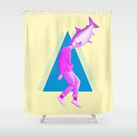 political Shower Curtains featuring A perfect day for bananafish by Laura Nadeszhda