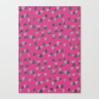gray pattern Canvas Prints featuring Pink & Gray pattern by Georgiana Paraschiv
