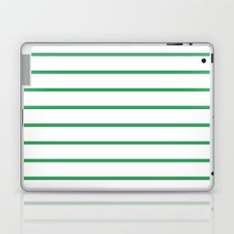 Kelly Green Breton Stripes Laptop & iPad Skin