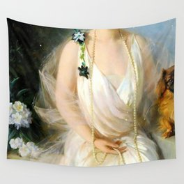 Portrait of Agnes Marsh Wall Tapestry