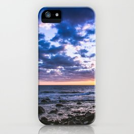 Sunset rock landscape iPhone Case