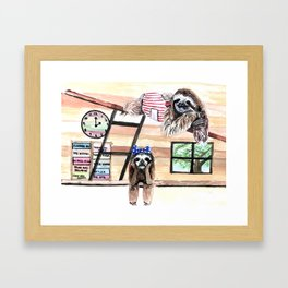Peek into a treehouse Framed Art Print