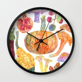 Seasonal Fruits Wall Clock