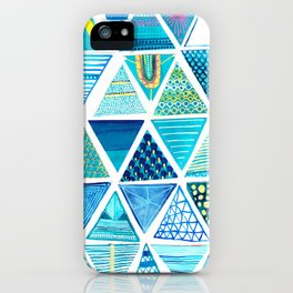 Triangle Study in Blue iPhone Case
