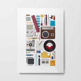 Stuff (white background) Metal Print