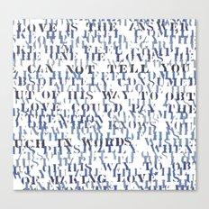 Sentences of Love Zoom Canvas Print