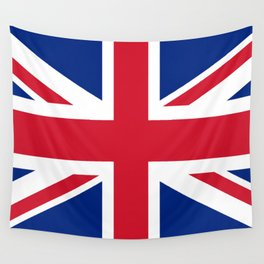 Union Jack, Authentic color and scale 1:2 Wall Tapestry