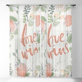 Love Wins Sheer Curtain