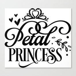 Petal princess Canvas Print