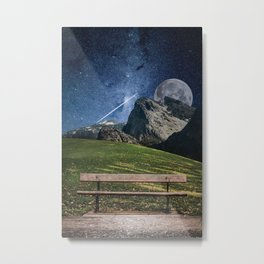 Parkbench Metal Print