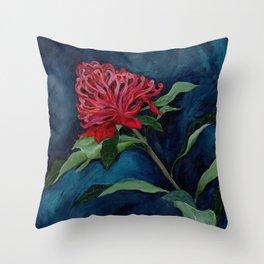 Waratah Australian Native Botanical Flower Throw Pillow