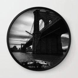 Brooklyn Bridge from South Street Manhattan Wall Clock