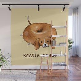 Beagle Bagel Wall Mural