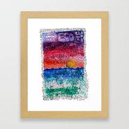sunset art (eco love) #2 Framed Art Print