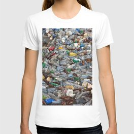 pollution by plastic bottles T-shirt