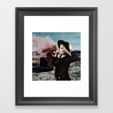 Burning Koffer Framed Art Print