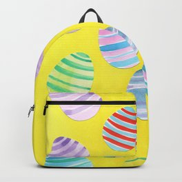 Easter Egg Watercolor Pattern -  Yellow Backpack