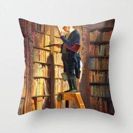 The Bookworm - Carl Spitzweg Throw Pillow