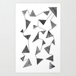 Triangle Barf Art Print