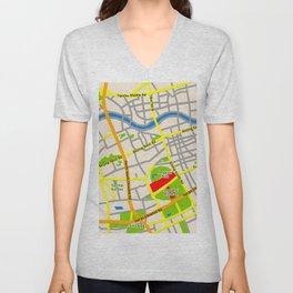 Shanghai Map Design Unisex V-Neck