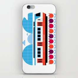 Postcards from Amsterdam / Train and Tulips iPhone Skin