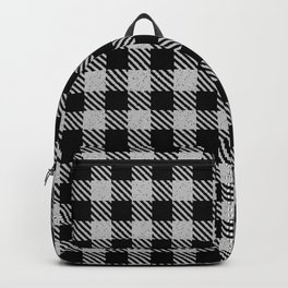 Lavender  Bison Plaid Backpack