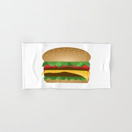 Yummy Cheeseburger Hand & Bath Towel
