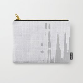 Grey dirt on white tiles background Carry-All Pouch