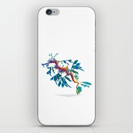 Geometric Abstract Weedy Sea Dragon iPhone Skin