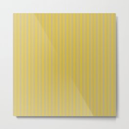 Stripe in Gray / Yellow Metal Print