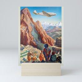 Vintage Travel Poster-Peru Mini Art Print