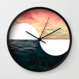 Sunset Moon Horizon Wall Clock