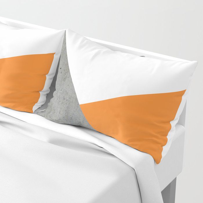 Concrete Tangerine White Pillow Sham