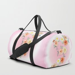 Rosy Watercolour Flower Bouquet Duffle Bag