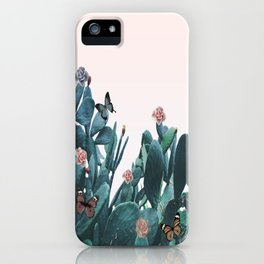 Cactus & Flowers - Follow your butterflies iPhone Case