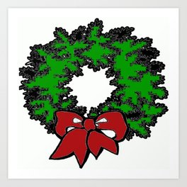 A Green Wreath Art Print
