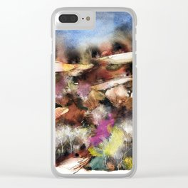 Abstract Tuscan Landscape Clear iPhone Case